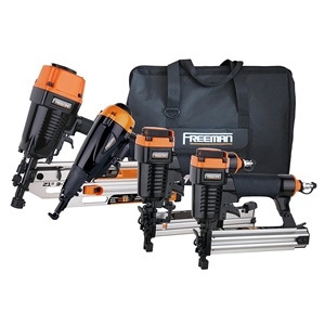 Freeman P4FRFNCB 4-Piece Pneumatic Nail Gun Set